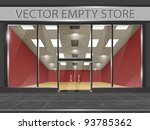 shop with glass windows and... | Shutterstock .eps vector #93785362