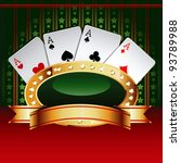 casino vector banner with cards. | Shutterstock .eps vector #93789988