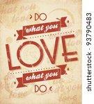 valentines vintage background | Shutterstock .eps vector #93790483