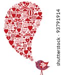 love speech bubble | Shutterstock .eps vector #93791914