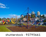 children playground in a  park. ...   Shutterstock . vector #93795661
