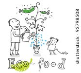 eco food  ecology and... | Shutterstock .eps vector #93798508