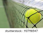 tennis ball in net | Shutterstock . vector #93798547