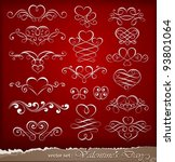 decorative elements on... | Shutterstock .eps vector #93801064