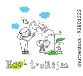eco tourism  ecology and... | Shutterstock .eps vector #93801223