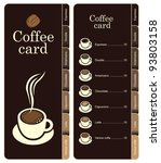 coffee menu card for different... | Shutterstock .eps vector #93803158