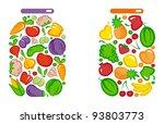 preserved vegetables and fruit... | Shutterstock .eps vector #93803773
