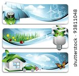 eco banners   eps 10 | Shutterstock .eps vector #93811048