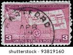 usa   circa 1939  a stamp... | Shutterstock . vector #93819160