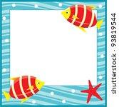 framework for photos. sea theme.... | Shutterstock .eps vector #93819544