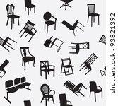 big set of home chair... | Shutterstock .eps vector #93821392