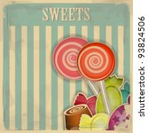 vintage postcard   sweet candy... | Shutterstock .eps vector #93824506