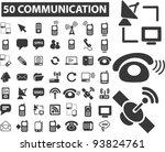 50 communication icons set ... | Shutterstock .eps vector #93824761