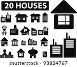 20 houses icons set  vector... | Shutterstock .eps vector #93824767