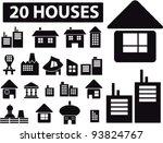 20 houses icons set  vector... | Shutterstock .eps vector #93824767
