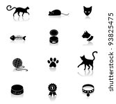 Stock vector cat icon symbol set eps vector grouped for easy editing no open shapes or paths 93825475