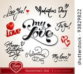 valentine's day. set of... | Shutterstock .eps vector #93829822