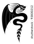 black dragon tattoo 2 | Shutterstock .eps vector #93830212