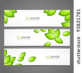 set of eco banners | Shutterstock .eps vector #93831781
