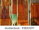 The Rusty Metal Sheet Wall And...