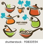 vector collection of cooking... | Shutterstock .eps vector #93833554