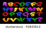 cartoon vector font  full... | Shutterstock .eps vector #93835813