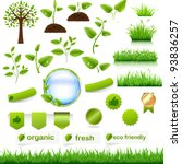 Green Eco Set  Isolated On...