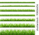 green grass set  isolated on... | Shutterstock .eps vector #93836656