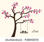 flower love tree. vector...