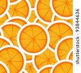 orange seamless background | Shutterstock .eps vector #93844636