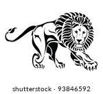 isolated tribal lion tattoo  ...