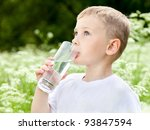 child drinking pure water in... | Shutterstock . vector #93847594