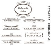calligraphic labels   classic... | Shutterstock .eps vector #93854119