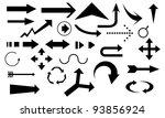 arrow set illustration | Shutterstock .eps vector #93856924