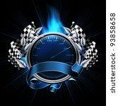 blue emblem races | Shutterstock .eps vector #93858658