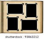 page of vintage photo album ... | Shutterstock . vector #93863212