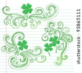 st patricks day four leaf... | Shutterstock .eps vector #93865111