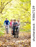 a young family with children on ... | Shutterstock . vector #93867139