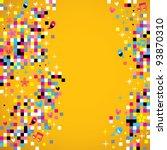 fun pixel background - stock vector