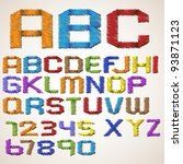 alphabet letters and numbers... | Shutterstock .eps vector #93871123
