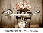 Old Bicycle And Flowers Blur I...