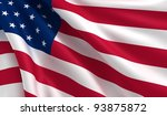 a flag of usa in the wind | Shutterstock . vector #93875872