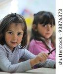 happy child kids group have fun ... | Shutterstock . vector #93876373