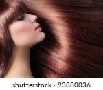 brown hair. beautiful woman... | Shutterstock . vector #93880036