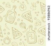 pizza seamless pattern | Shutterstock .eps vector #93886963
