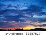 beautiful fiery sunset  the... | Shutterstock . vector #93887827