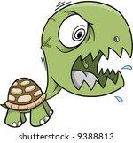 Crazy Insane Turtle Vector Illustration - stock vector