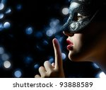 Cute Girl In Masquerade Mask