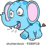 Crazy Elephant Vector Illustration - stock vector
