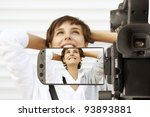 taking movie with professional... | Shutterstock . vector #93893881